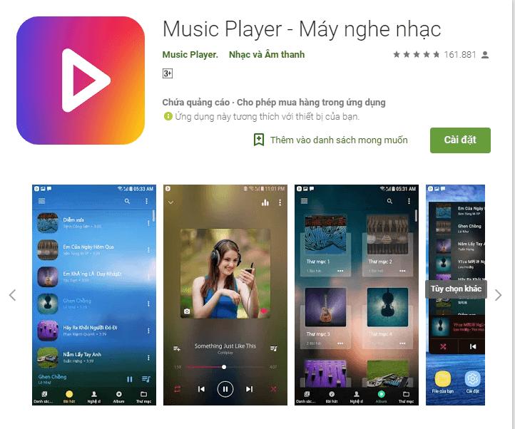 App nghe nhạc