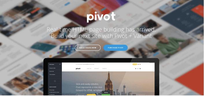 Mẫu website Pivot.