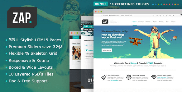 Mẫu website Zap