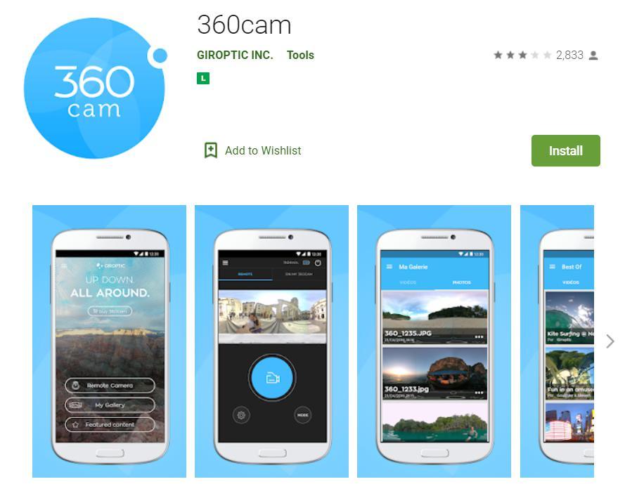 360Cam: Ứng dung lưu trử - chụp hình 360 VR chuyên nghiệp