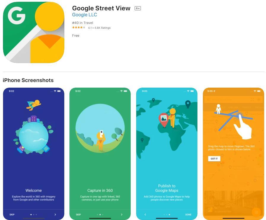Google Street View: App chụp ảnh 3D trên Iphone - Android đơn giản, đẹp